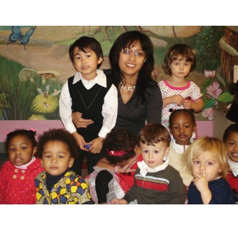 FABIOLA SANTOS-GAERLON: HONEYDEW DROP CHILDCARE SERVICES    Honeydew Drop has served the Brooklyn community since 1999, caring for children from ages 4 months to 5 years old. Honeydew Drop's mission is to provide high quality childcare, parental support and leadership training for childcare providers. The focus is the socio-emotional health and growth of the children, their families and their caregivers. Fabiola believes that teaching young children to become independent and part of a community is as important as teaching them ABC and 123.