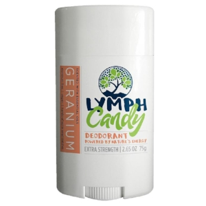 GERANIUM DEODORANT: $10.00    Designed to absorb wetness and neutralize odor effectively, Lymph Candy is a clean, 6-ingredient deodorant that works