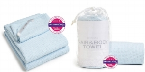 HAIR & BODY TOWEL    $29.99    the perfect dual towel made with a soft plush textured feel and a lightweight microfiber fabric