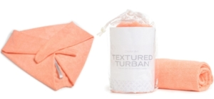 TEXTURED TURBAN    $24.99    the best option for drying your hair without stripping the natural oils that cause your hair to over-dry