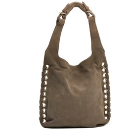 EDDIE HOBO BAG $398.00    With gold platted eyelets, available in additional colors /suede