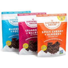 VARIETY PACK: $23.97    One of each flavor: Blueberries + Pecans; Cranberries + Walnuts with Pepitas; Spicy Cherry + Almonds