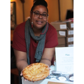 JUNE FRANCES COLEMAN: FANCY PIES    Founded in 2011, Fancy Pies is a seasonal pop up shop in Washington Heights selling home-style dessert pies with high quality locally sourced produce in a signature all-butter crust. Inspired by her neighbor's kind gesture during a time of mourning, Coleman was motivated to create her own business by providing home-style pies just like her mom's. Fancy Pies offers a variety of pies such as: Aunt Ann's Tangy Citrus Meringue, Bessie's Boozie Butterscotch, Dave's Mixed Up Berry, and Mama's Dutch Apple!