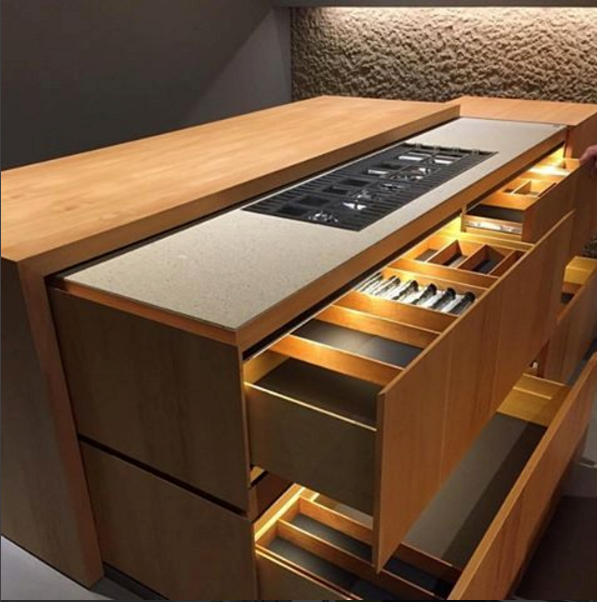 Manufacturers Are Showcasing Kitchens With Retracting And Telescoping  Counter Tops.
