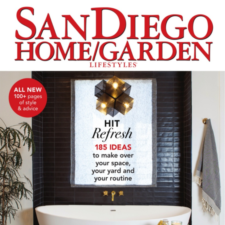 """San Diego Home/Garden Magazine's """"2018 Baths of the Year"""" -  Honorable Mention"""