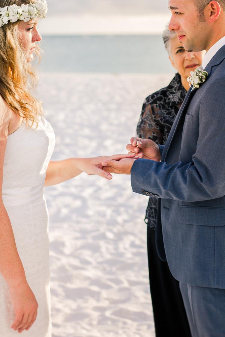 Siesta Key Beach Bohemian Wedding, Florida Destination Beach Wedding Photography | Laura & Adam | lmartinwedding.com_44