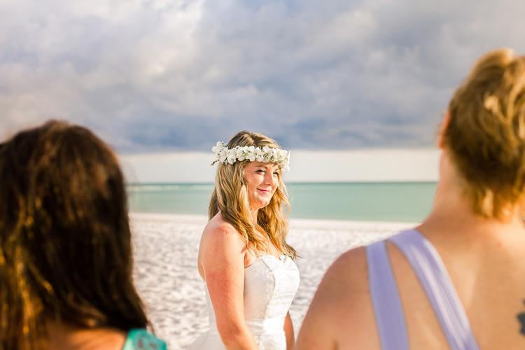 Siesta Key Beach Bohemian Wedding, Florida Destination Beach Wedding Photography   Laura & Adam   lmartinwedding.com_69