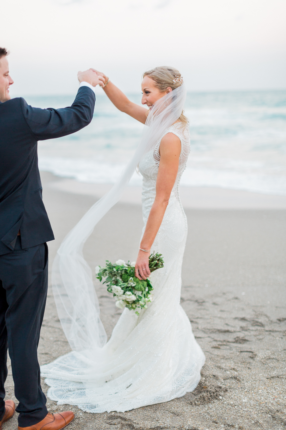 Seafoam + Blue Jupiter Beach Resort West Palm Beach Florida Wedding