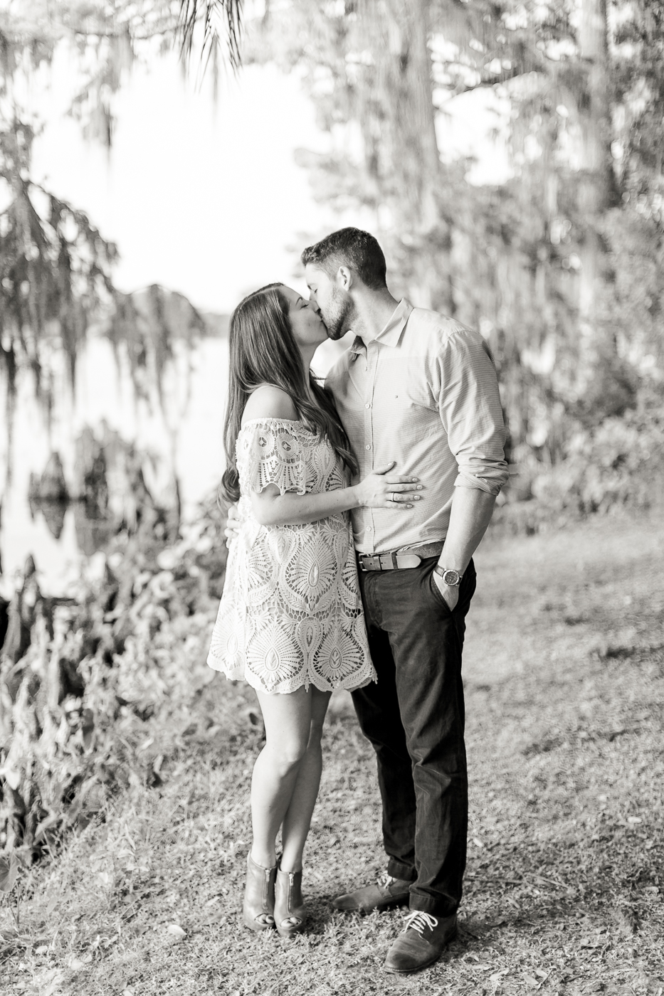Winter Park Kraft Azalea Garden Rollins College Orlando Engagement Photography
