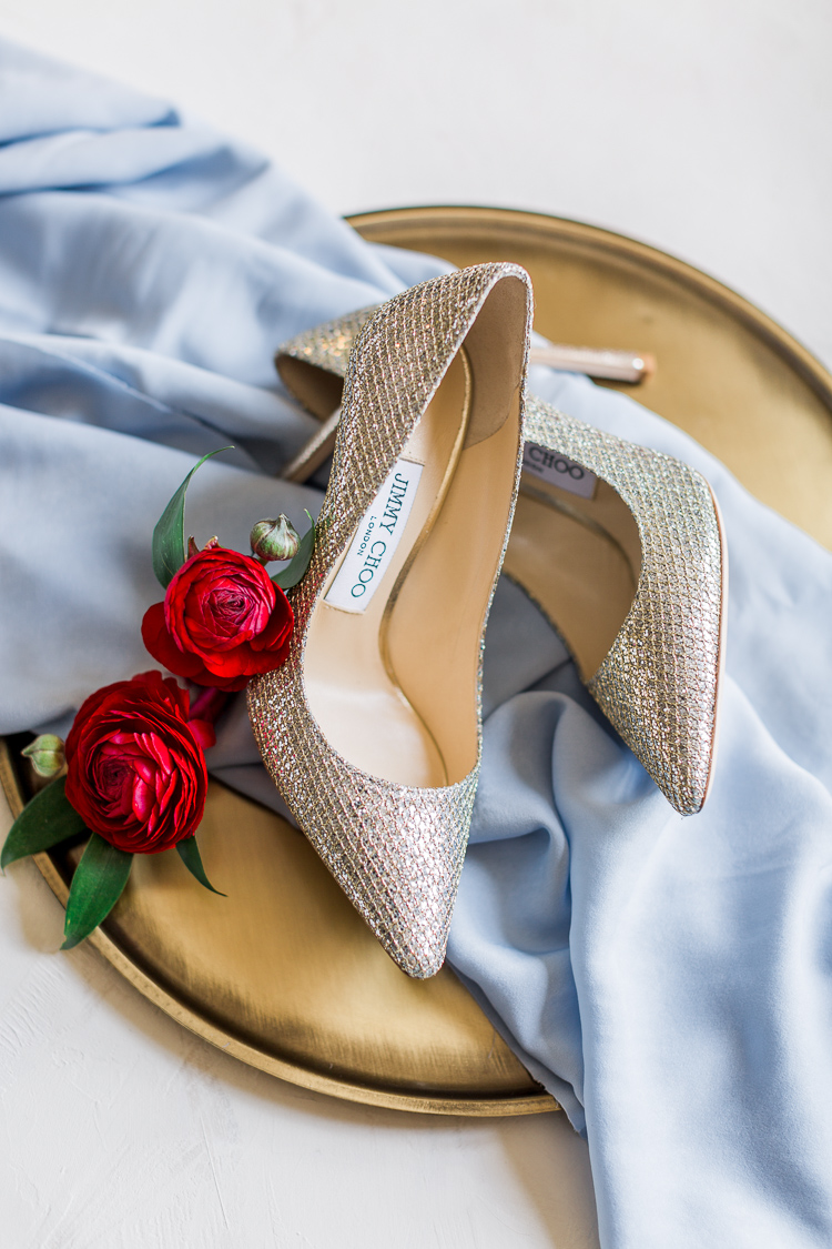 Elegant Dusty Blue with Red Museum of Fine Art Wedding in St. Petersburg, Florida