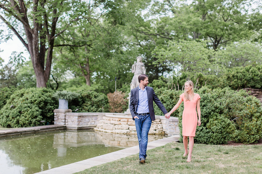 Downtown Nashville Symphony Center, Cheekwood Estate and Gardens Engagement Photography | Lauren Galloway Photography | Nashville Wedding Engagement Photographer