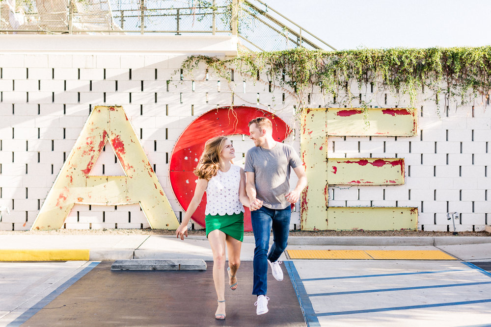 Lauren Galloway Photography | Colorful Parker Palm Springs + Ace Hotel & Swim Club Engagement | Palm Springs Wedding Photographer