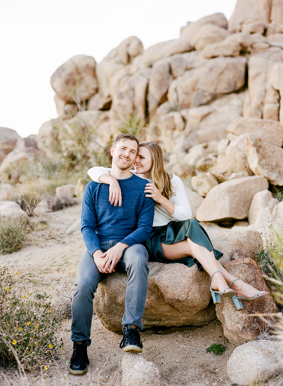 Lauren Galloway | Joshua Tree National Park Desert Engagement in California | Palm Springs, Joshua Tree, LA Wedding Photographer