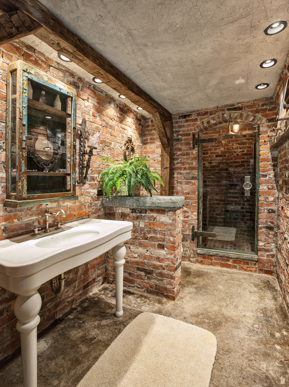 One of the home's eight bathrooms.