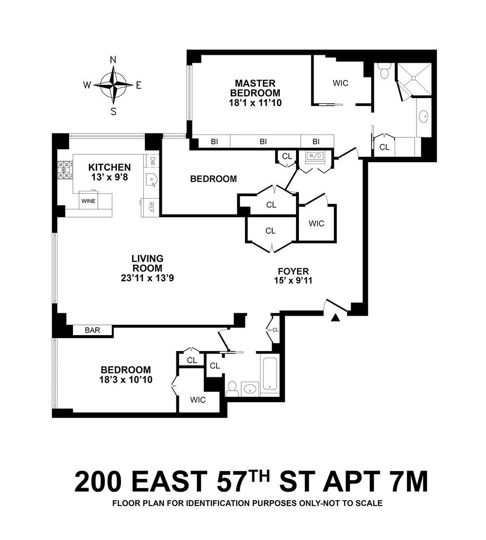 Unit 7M Floor Plan