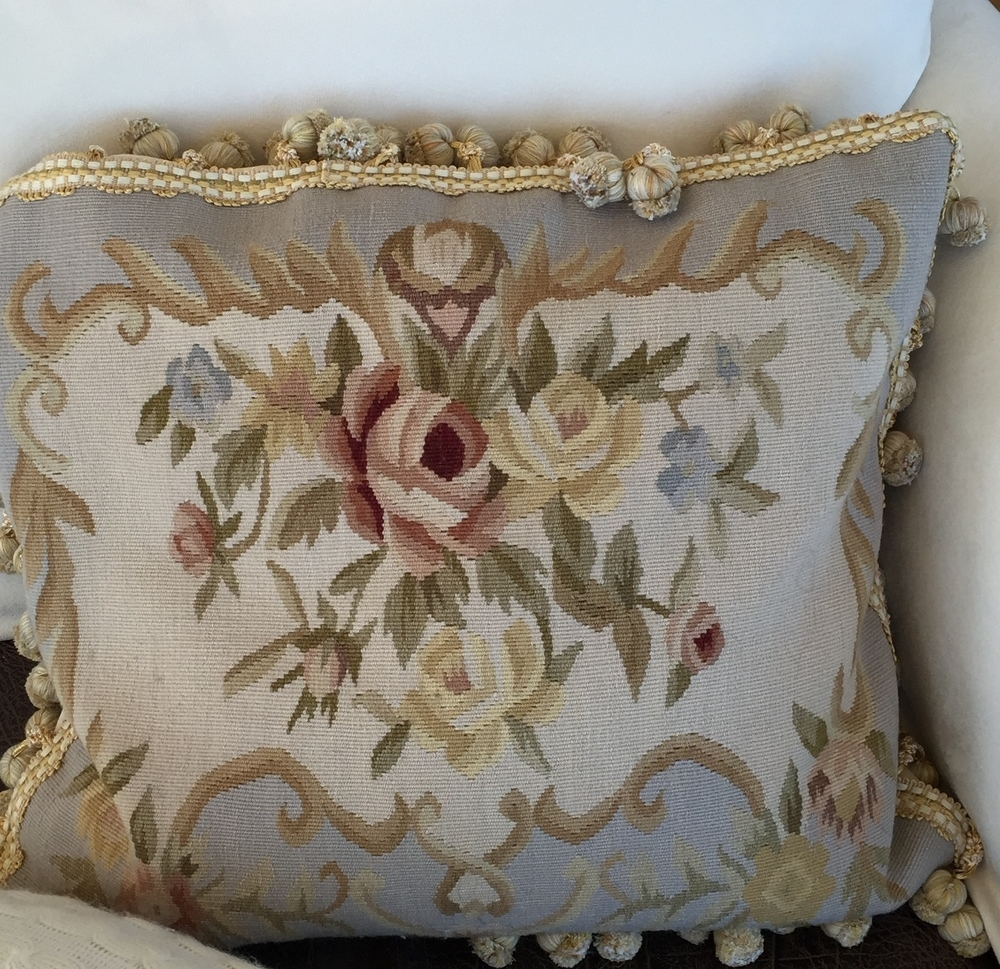 Needlepoint Cushion Cover (click image for source)