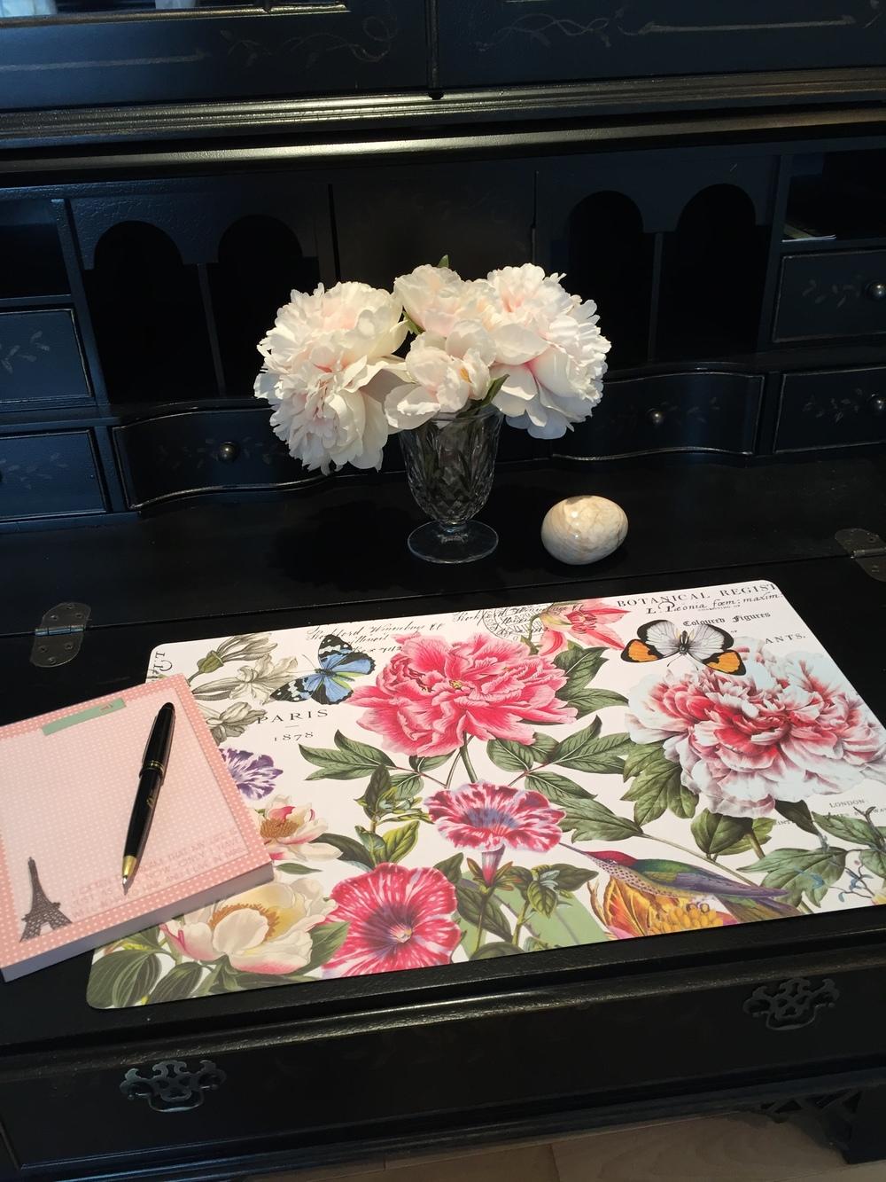 A desk blotter