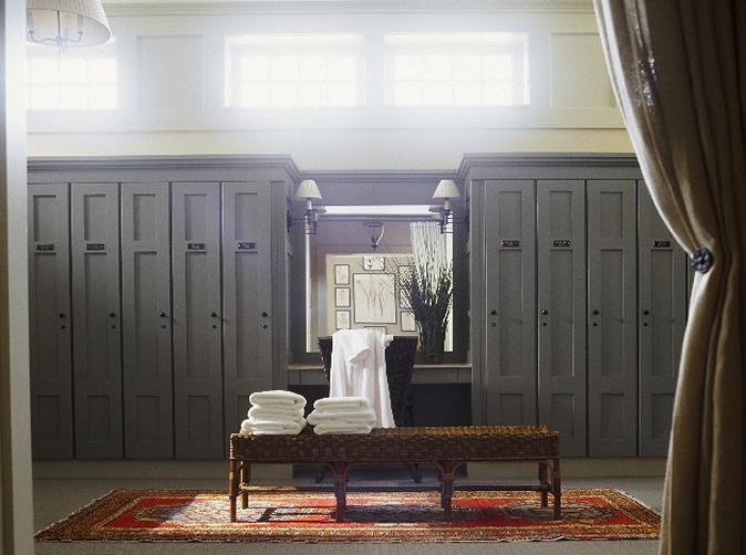 A Lockeroom at Old Collier Golf Club.