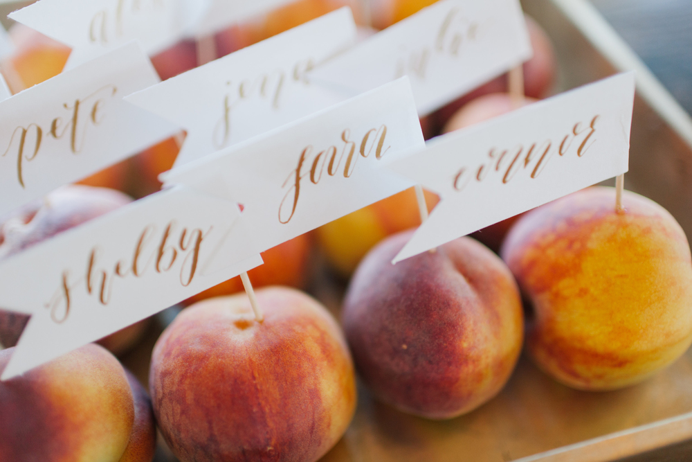 Bliss OKC Sweet Peach Escort Cards