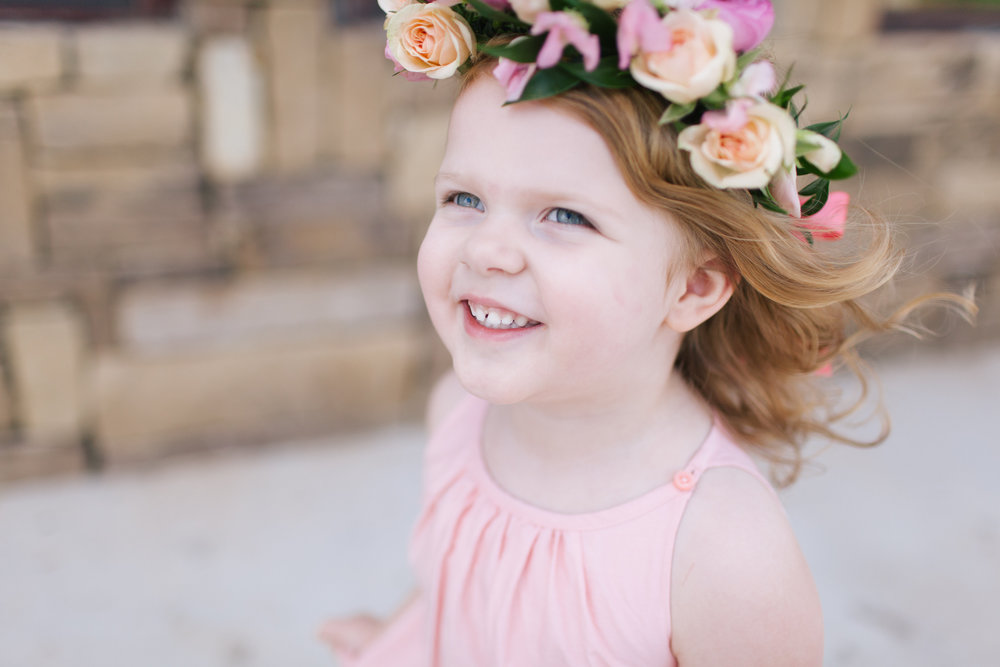Bliss OKC | Melanie Foster | Sweet Peach Styled Shoot | Flower Girl | Flower Crown