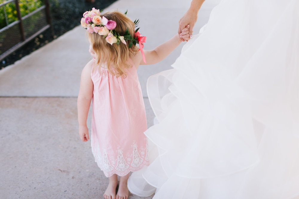 Bliss OKC   Melanie Foster   Sweet Peach Styled Shoot   Flower Girl   Flower Crown