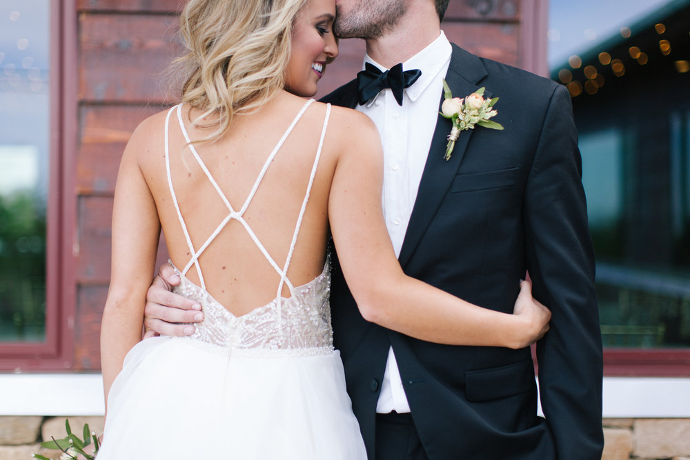 Bliss OKC | Melanie Foster | Sweet Peach Styled Shoot | Bride and Groom