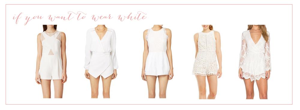 Outfit links in order:  BCBG  ,  Lovers + Friends ,  Keepsake ,  Adelyn Rae ,  Revolve