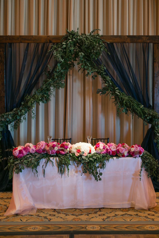 Bliss OKC   Aubrey Marie Photography   Wedding Reception   Gaillardia Country Club   Head Table
