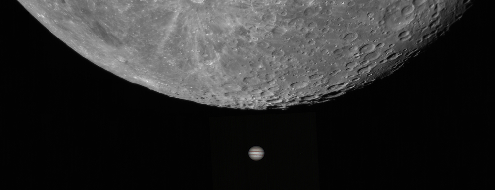 Jupiter vs. The Moon, as viewed from Earth