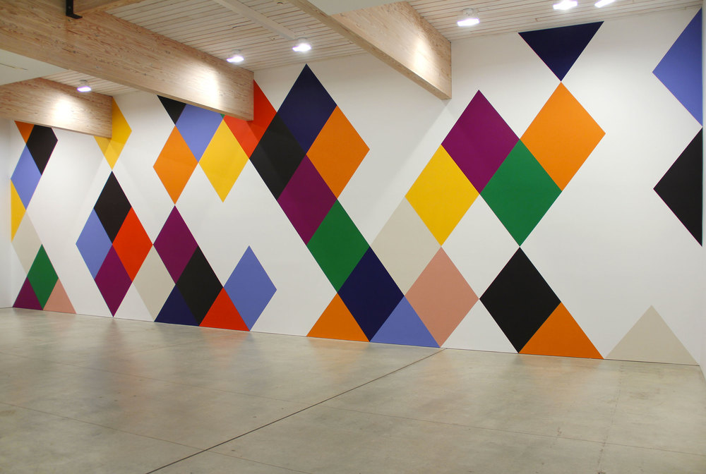 Oracle , 2014, 13 x 26', wall painting  Canterbury , 2014, 15 x 75', wall painting OMI International Arts Center, Ghent, New York. On view June-September 2014.