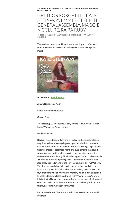La Music Critic Review