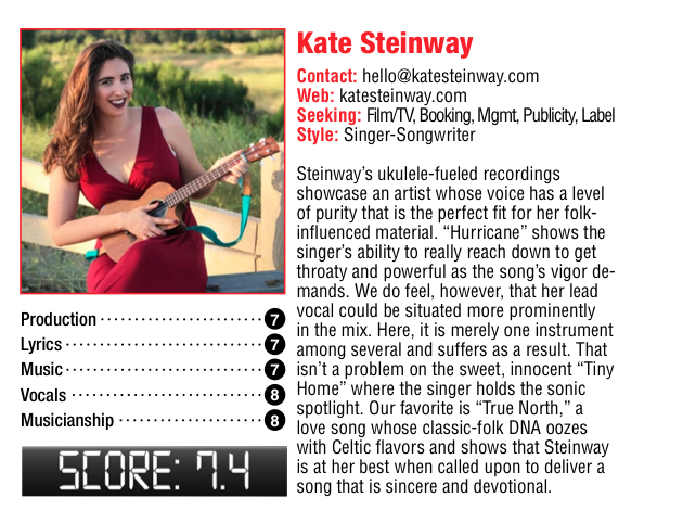Kate Steinway Music Connection Review