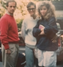 High School me with parents. I can't tell what book I'm holding.