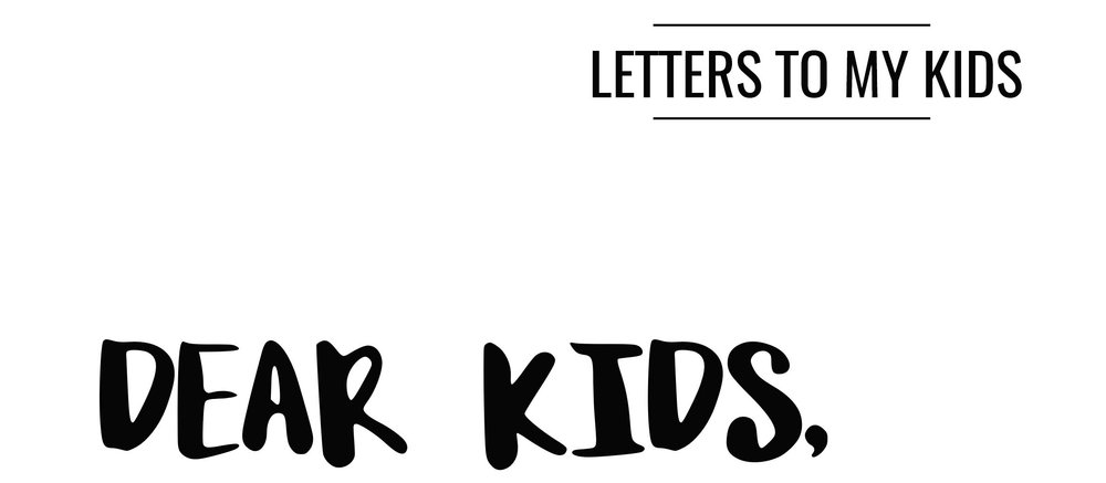 A letter to my kids by houston film maker.