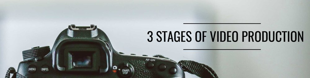 The three stages of video production