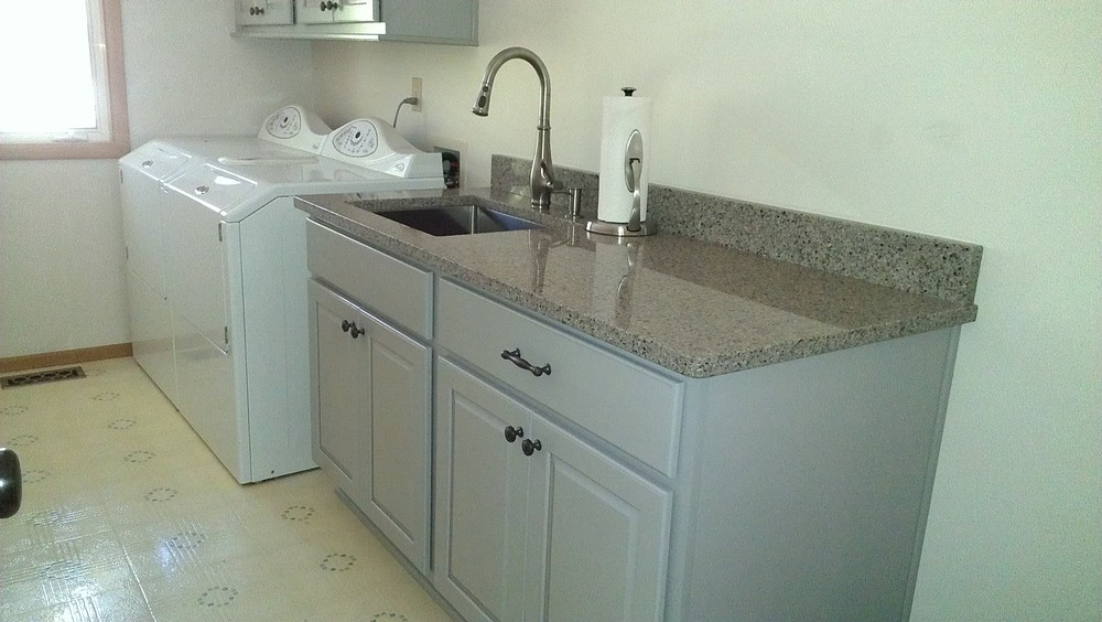 The finished laundry room.