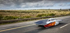 Nuna8, day 7 of the Bridgestone World Solar Challenge. Photo by  Hans-peter van Velthoven