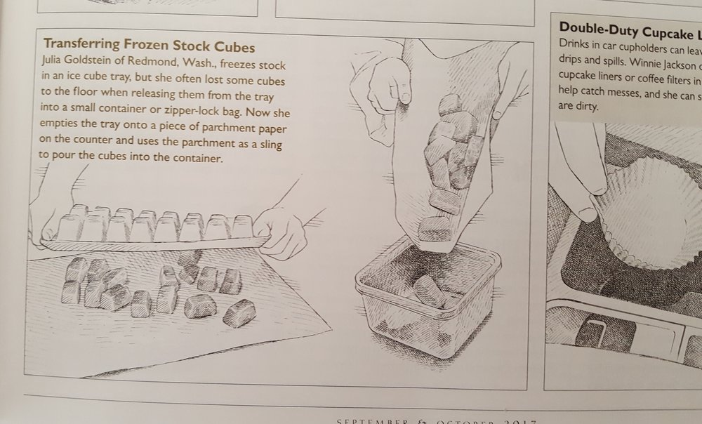 Cook's Illustrated chose to publish the Quick Tip I submitted.
