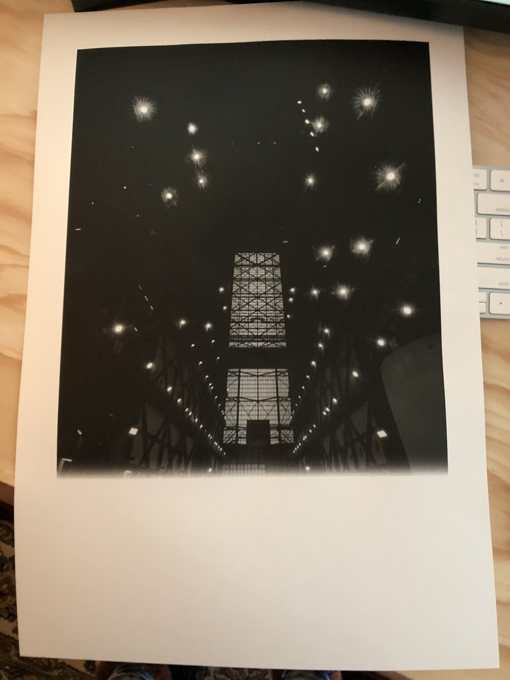 Image printed correctly (cut off to save ink, since it was a test on proofing paper).