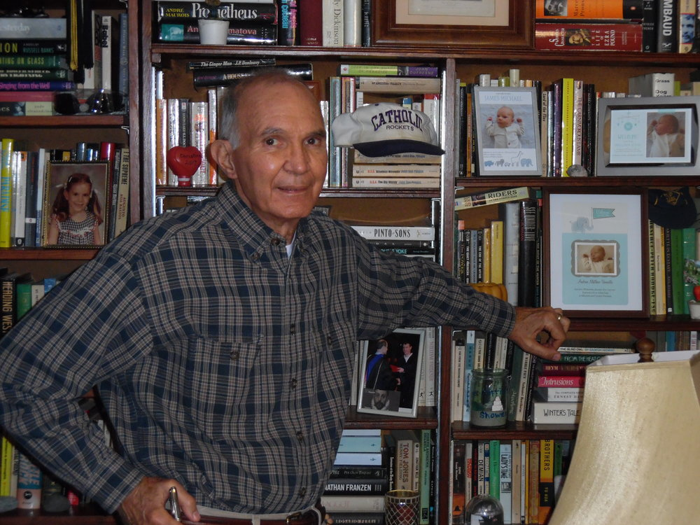 Dennis Vannatta, author of  The Only World You Get: Arkansas Stories , in his office.