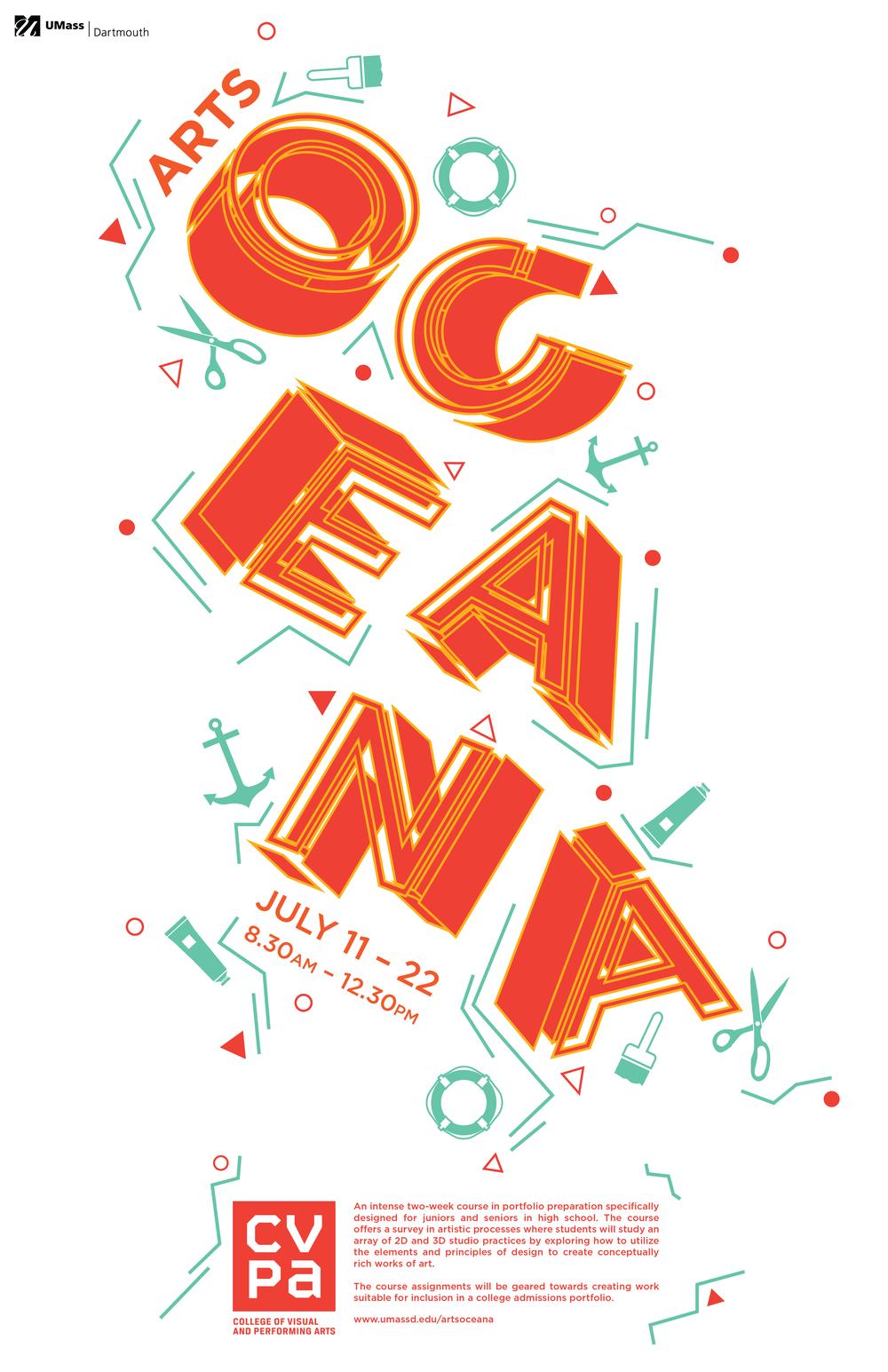 CLIENT POSTER   Promotional poster designed for the Arts Oceana summer art program
