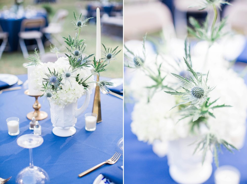 white-and-green-centerpiece