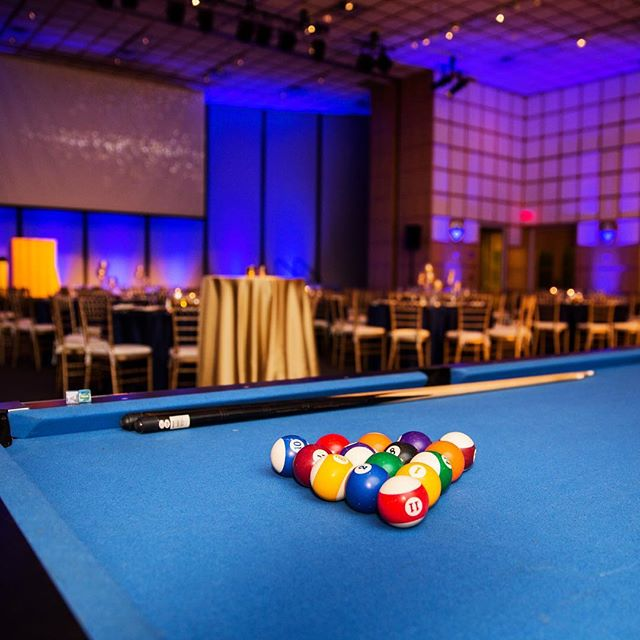 #trendingtuesday Promote guest interaction with a little bit of friendly competition after a seated dinner! 🎱 • • • #dpievents #dpidecor #jfk #pool #billiards #bostondmc #protip #dmcnetwork #bostonmeetings #dpionthego