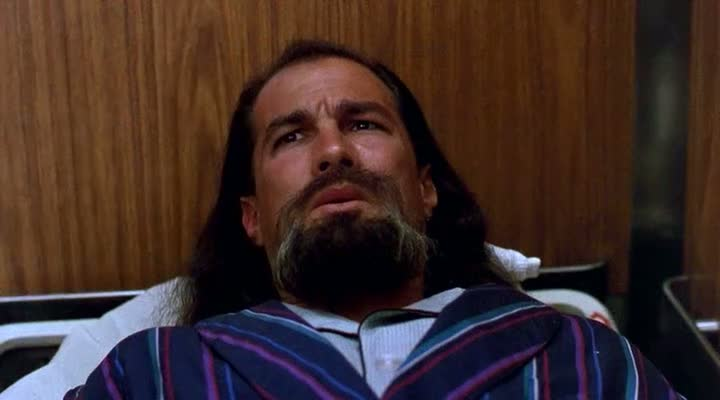 There's something not quite right about Seagal's goatee in  Hard to Kill