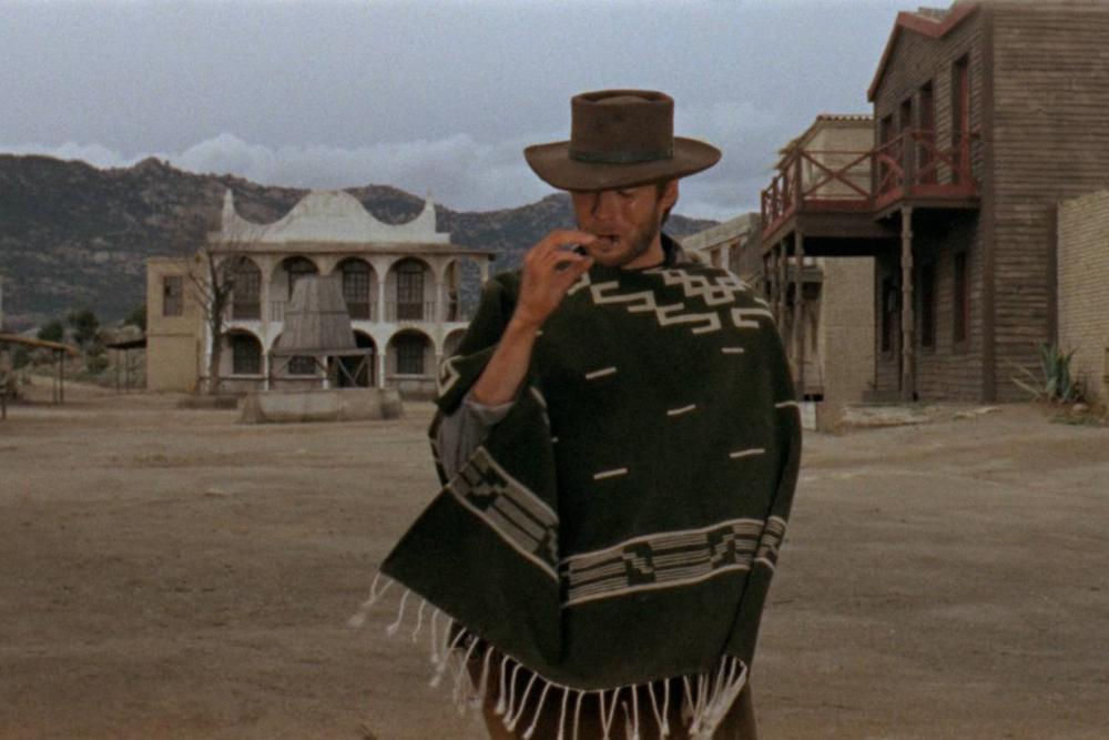 """Clint Eastwood as """"Joe""""in  A Fistful of Dollars"""