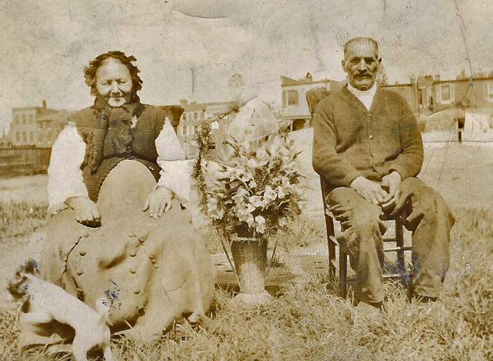 My great-great-grandparents, someplace near Baltimore in the early 20th-century.