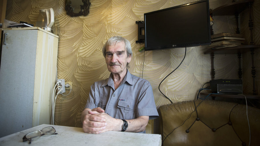 Stanislav Petrov, a former Soviet military officer, poses at his home in 2015 near Moscow. Photo from AP.
