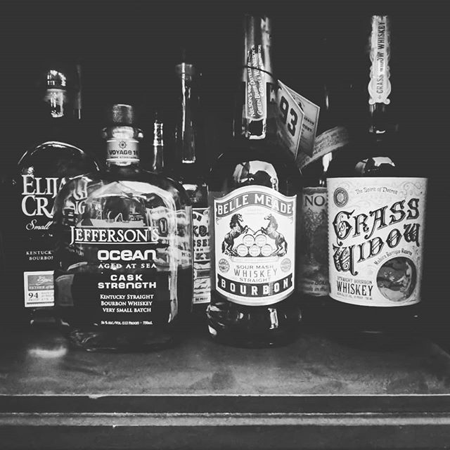 Lenny bought a few new bottles for the Blessed Shelf, filling in the gaps left behind by those dearly departed, but not forgotten. 🤓  The Jefferson isn't new lol, just keeping it proudly up front.  #bourbon #whiskey #shelf #alcohol #stockingup #whiskeygram #instabourbon #elijahcraig #jeffersons #grasswidow #bellemeade