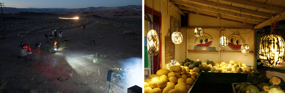 """Past on Present"" by the Seeing Trails DFA and ""Rural Light"" by the Michael Parker and Alyse Emdur"