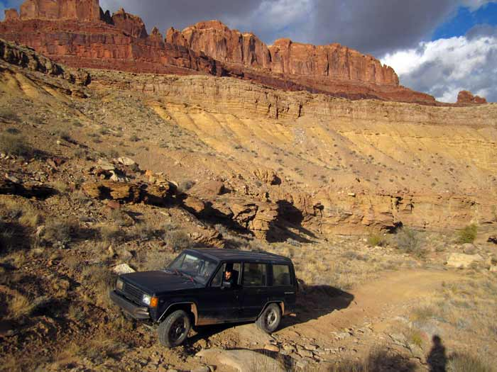 Jack Forinash and I had an epic adventure with DG, his Isuzu Trooper. We went west out of town towards the San Rafael Swell.